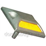 Светоотражатель алюминиевый с катафотами КД-3-2 фото