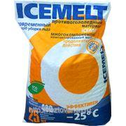 Противогололедный материал ICEMELT Айсмелт упаковка 25кг. до -25 С фото