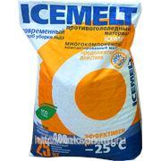 Противогололедный реагент «АЙСМЕЛТ»(ICEMELT) 25кг фото