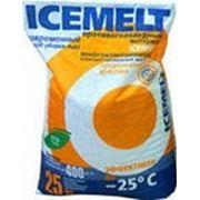 Антигололедный реагент Айсмелт в мешках 25 кг. фото