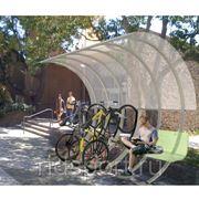 Велопарковка крытая H-19 фото