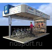 Велопарковка с лайтбоксами H-25 фото