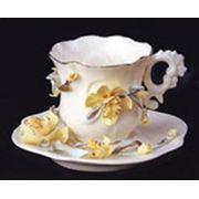 Чашки с блюдцами фарфоровые фото