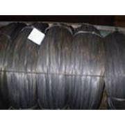 Проволока вязальная оцинкованная термически обработанная черная фото