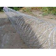 Колючая проволока Егоза 500, 600, 900 - спиральный барьер безопасности фото