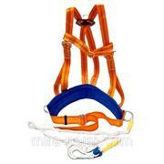 Удерживающая страховочная привязь с наплечными лямками УПС 2ВД (строп канат) (Пояс предохранительный ПП-2ВД) фото