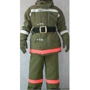 Боевая одежда пожарного БОП-1, ткань «Пировитекс», болотный цвет, тип У, вид А фото