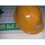 Каска защитная (цв.оранж, бел) фото