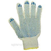 Перчатки трикотажные белые с ПВХ покрытием фото