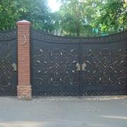 Распашные ворота 2 фото