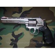 Револьвер пневматический DAN WESSON 6 ASG никель фото