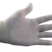 Перчатки нейлоновые белые, арт. 221 фото