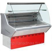 Витрина холодильная ВХСн-1,2 Нова (с гнутым стеклом,нержавейка) фото