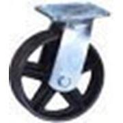 Поворотные, платформенное крепление: Колеса для тележек чугунная фото