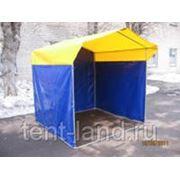 Палатка торговая, разборная «Домик» 2 x 2 из оцинкованной трубы Д 25мм, тент ПВХ фото