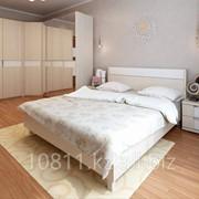 Спальный гарнитур Наоми цвет: дуб молочный/ кожзам. фото