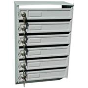 Ящик почтовый металлический (подъездный) - 6 секций фото