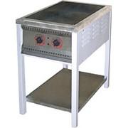 Плита электрическая ПЭ-2 двухконфорочная без жарочного шкафа фото