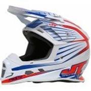 JT Racing Шлем кроссовый ALS1.0 бело-красно-синий фото