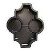 Пластиковая форма 34 клевер с кругами 34 , 270 х 220 х 45, 60 мм, 28 шт/кв.м фото