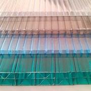 Поликарбонат сотовый 8мм прозрачный  фото