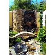 Водопады из природного камня фото