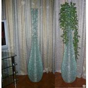 Декоративная ваза из кусочков стекла фото