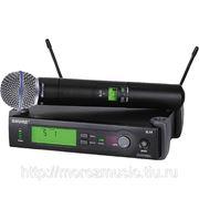 SHURE SLX2/BETA58 R5 800 - 820 MHz ручной передатчик с капсюлем динамического микрофона BETA 58 для фото