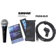 Shure PG58-XLR профессиональный вокальный динамический кардиоидный микрофон с выключателем фото