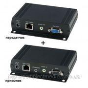 VKM03 комплект передачи vga, стерео аудио, rs-232, usb 2.0 по витой паре до 150 м. фото