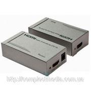 Удлинитель линий HDMI по витой паре cat5e-cat6 до 120 метров фото