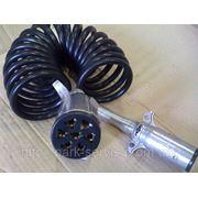 Кабель электрический (тягач-полуприцеп) (витой, с вилкой) фото