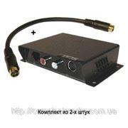 TTP111SAV-K удлинитель S-video сигнала и стерео аудиосигнала по витой паре до 300м фото