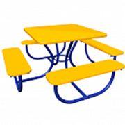 Стол со скамьями МФ-1.2.08.01 фото