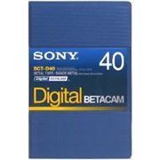Видеокассета Digital Betacam SONY BCT D40 фото