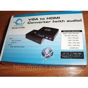Конвертер преобразователь сигнала VGA -> HDMI (HDTV 1080p, HDCP, FullHD) фото
