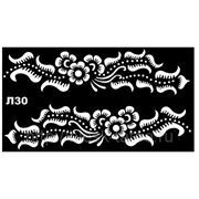 Трафарет для временных тату (мехенди) Л30 фото