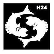 Трафарет для временных тату размер 9*9см(Н24) фото