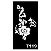 Трафарет для временных тату размер 16*9см(Т119) фото