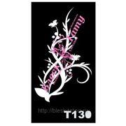 Трафарет для временных тату размер 16*9см(Т130) фото