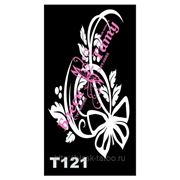Трафарет для временных тату размер 16*9см(Т121) фото