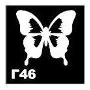 Трафарет для временных тату размер 5*5см(Г46) фото