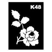 Трафарет для временных тату размер 9*7см(К48) фото