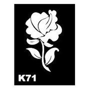 Трафарет для временных тату размер 9*7см(К71) фото