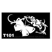 Трафарет для временных тату размер 16*9см(Т101) фото