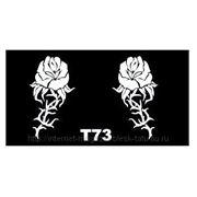 Трафарет для временных тату размер 16*9см(Т73) фото
