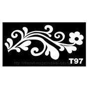Трафарет для временных тату размер 16*9см(Т97) фото