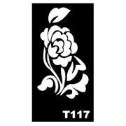 Трафарет для временных тату размер 16*9см(Т117) фото