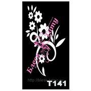 Трафарет для временных тату размер 16*9см(Т141) фото