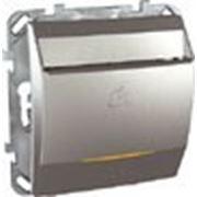 Карточный выключатель 10 А, с лампой подсветки (алюминий) фото